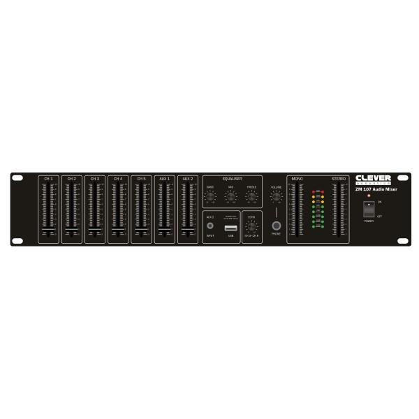 CLEVER ACOUSTICS ZM 107 19S Rackmount Audio Mixer