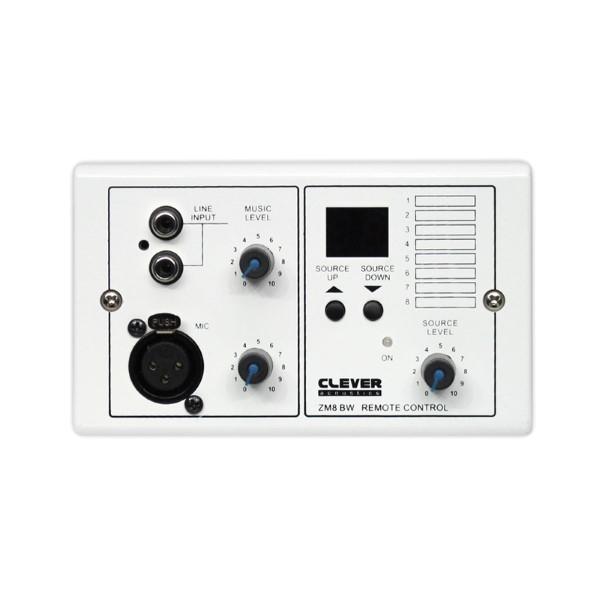 CLEVER ACOUSTICS ZM8 BW Wall Plate P Audio input en Source