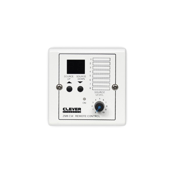 CLEVER Acoustics ZM8 CW Wall Plate –Source select