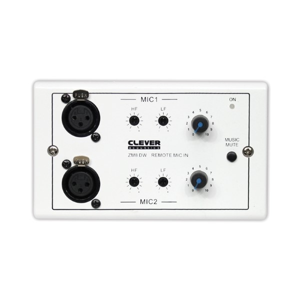 CLEVER Acoustics ZM8 DW Wall Plate –2 MIC inputs