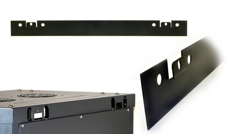 CQ 19 inch Wandkast Zwart 6HE 540mm incl. glazen deur