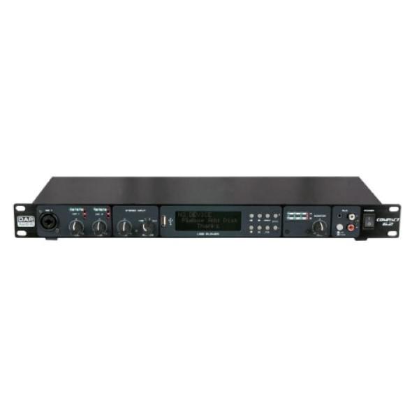 """DAP D2320 Compact 6.2 19"""" 1HE 6 kan. 2 zonemixer/USB speler"""