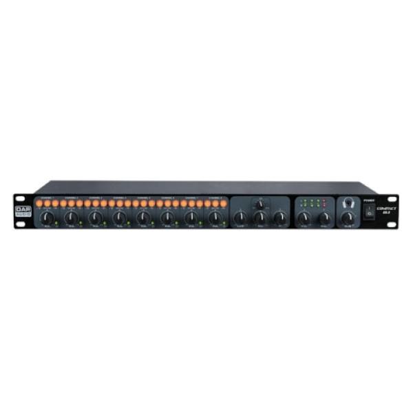 """DAP D2321 Compact 8.1 19"""" 1HE 8 kanaalsmixer"""