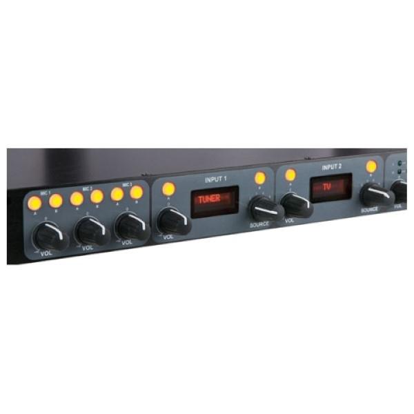 """DAP D2322 Compact 9.2 19"""" 1HE 9 kanaals- 2 zonemixer"""