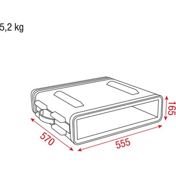 DAP D7101 2HE 19 inch ABS Rack Case Double Door
