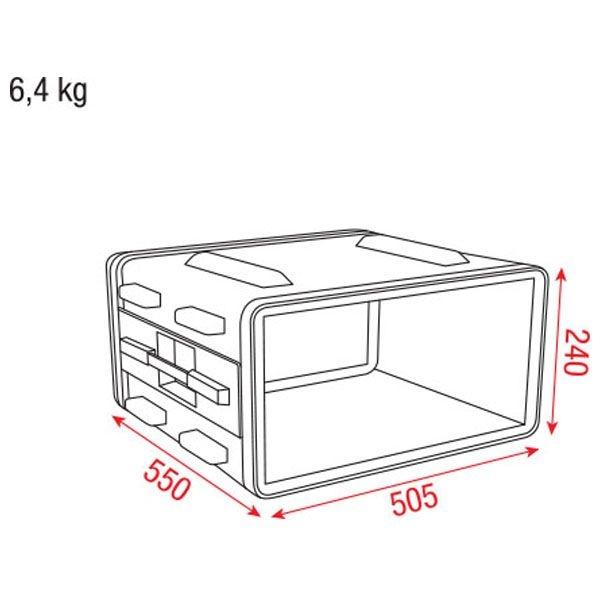 DAP D7102 4HE 19 inch ABS Rack Case Double Door