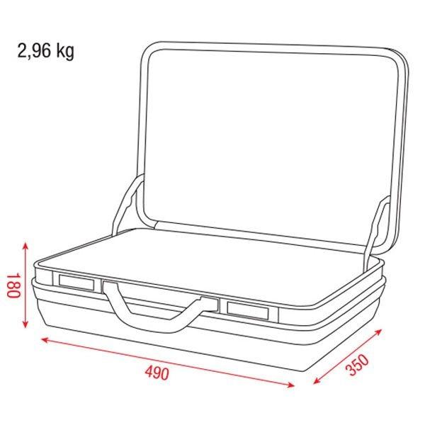 DAP D7143 Kunststof koffer