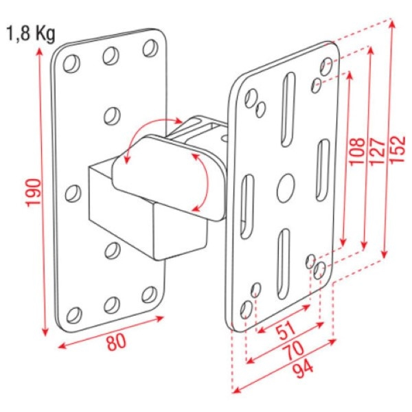 DAP D8429 hanging wall bracket(s) - set