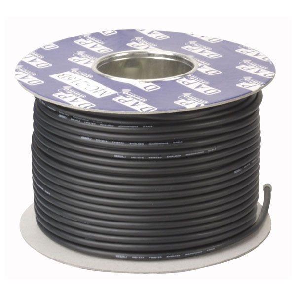 DAP Microfoonkabel MC-226 black op spoel (100m)