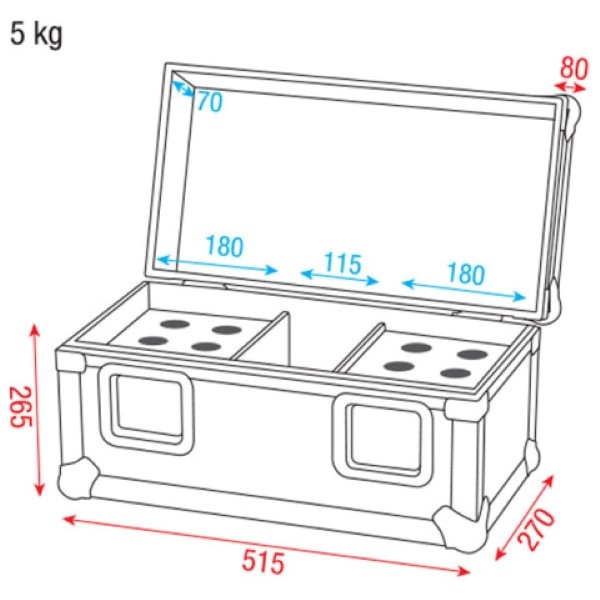DAP PRO case voor 12 microfoons of 2x Fusion Movingheads
