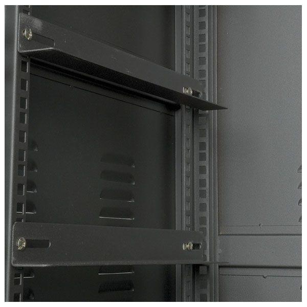 """DAP Professioneel 19"""" Metalen Rack, glazen deur, ventilatie"""