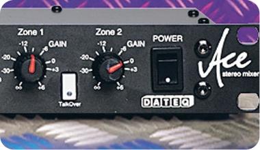 DATEQ ACE 19 inch 6-kanaals installatie en zone-mixer