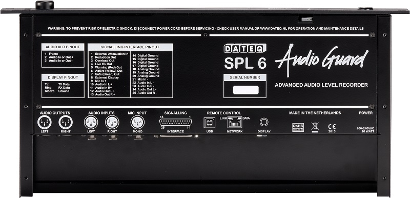 DATEQ SPL-6 Limiter met 10 bands octaaf limiting