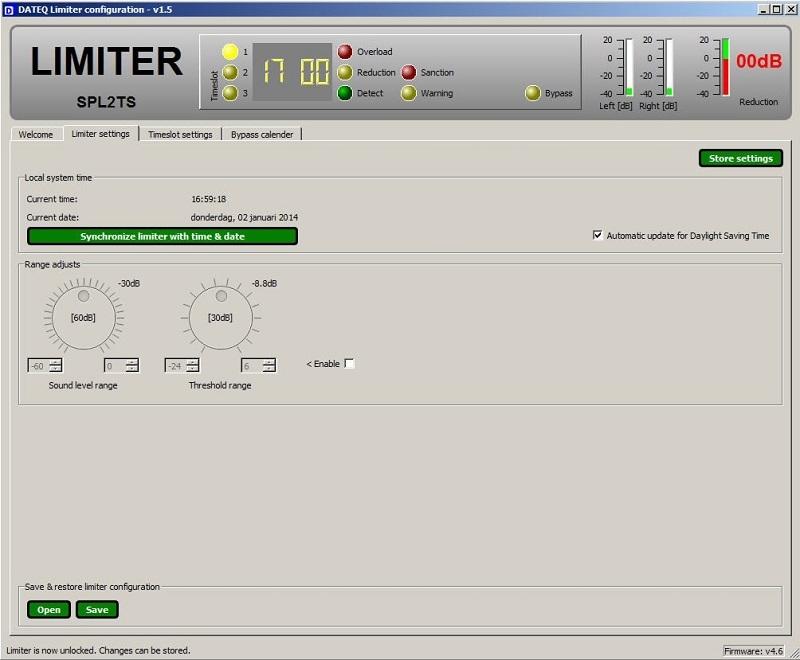 DATEQ SPL3TS Limiter Microcontroller, Microfoon, 3 timeslots