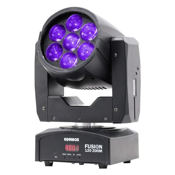 EQUINOX 4x Fusion 120 Zoom + Luxe Case + Klemmen - zwart