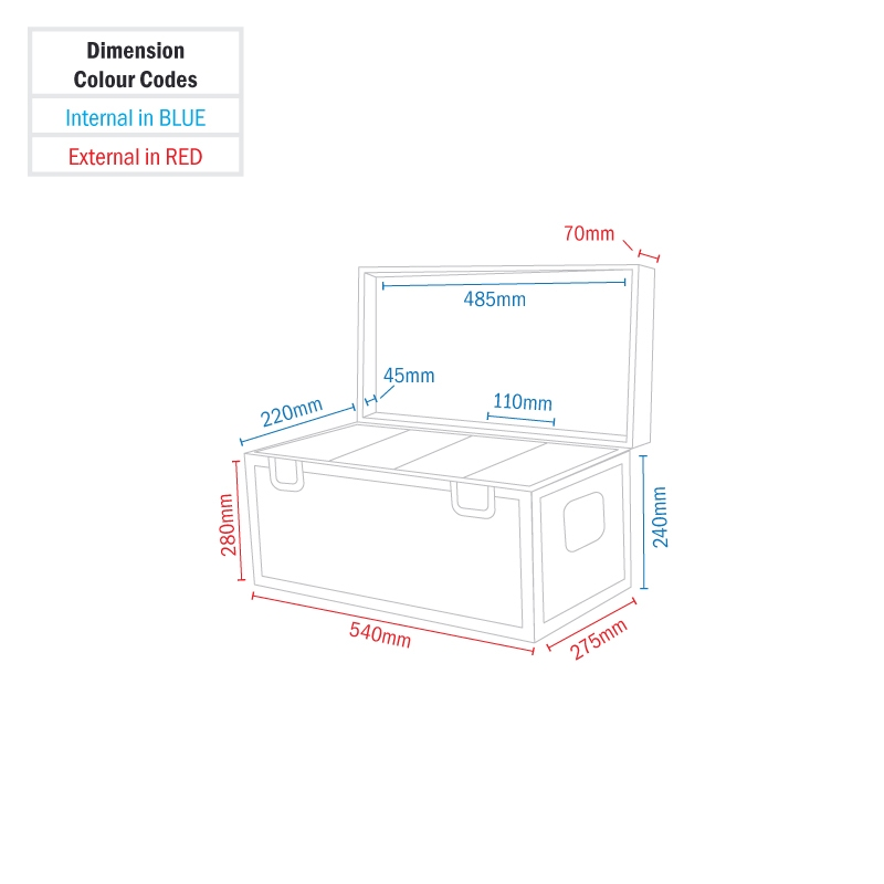 EQUINOX Case voor 4 Slimline 5Q5 en 7Q5 Pars