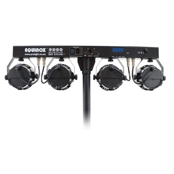 EQUINOX MicroPar Bar Systeem 4x 12x 1W LED