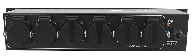 EUROLITE Power Distributor with 6 safety sockets - 16A