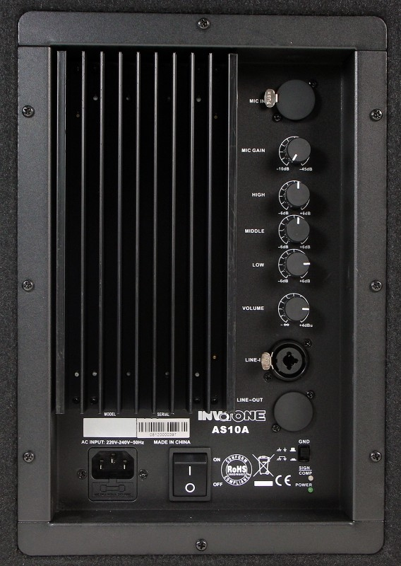 INVOTONE AS10A Set van 2 - vermogen 150 Watt RMS