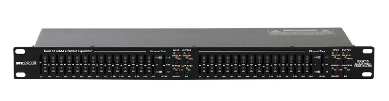 INVOTONE IEQ215 2x 15 bands 19 inch Equalizer