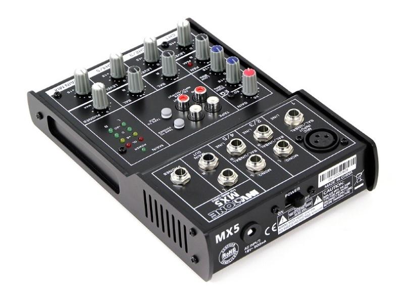 INVOTONE MX5 live mixer met fantoomspanning