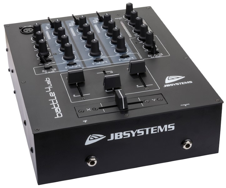 JB SYSTEMS Battle4-USB DJ Mixer met 9 inputs/4 kanalen