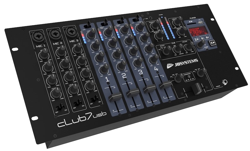 JB SYSTEMS Club7-USB DJ Mixer 13 inputs/ 7 kanalen + player