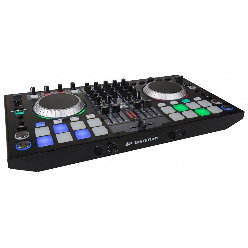JB SYSTEMS DJ-Kontrol 4 Midi Controller ( Virtual DJ incl.)