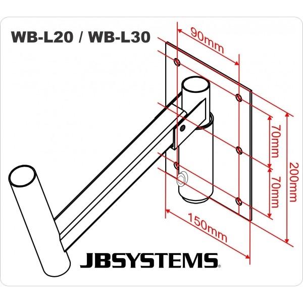JB SYSTEMS WB-L20 Speaker muursteun