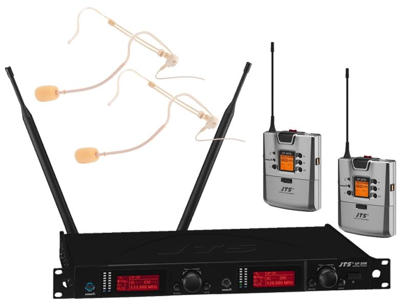JTS UF-20R/5 Dubbele beltpack en headset set
