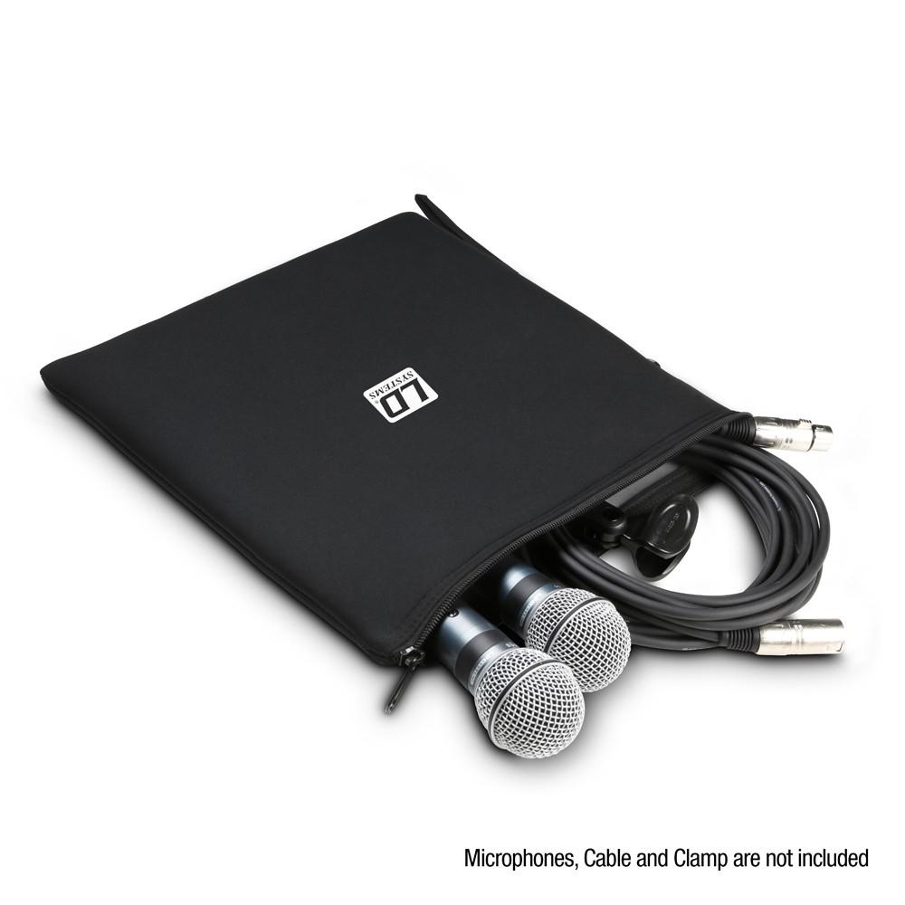 LDMICBAGXL Universele tas voor microfoons 300 x 300mm