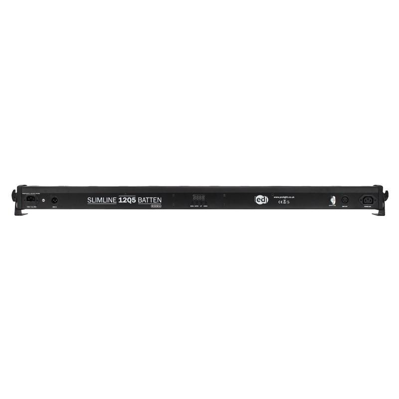 LEDJ Slimline 12Q5 RGBA Batten (zwart)