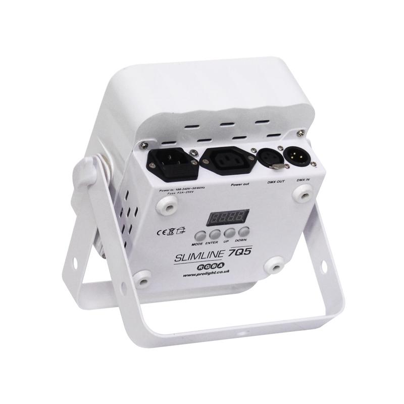 LEDJ Slimline 7Q5 RGBA par 7x 5W in witte behuizing