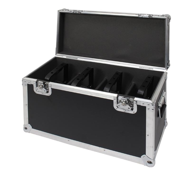 LIGHT-INC 4x Outdoor PAR7 HEXA (RGBWWA+UV) + Flightcase