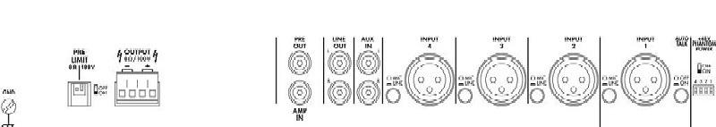 MONACOR PA-9100D Versterker Klasse D 1x1000W@100V / 4-8 Ohm