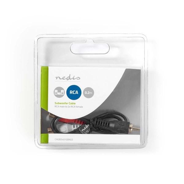 NEDIS 1x Tulp male P 2x tulp female audiokabel 20cm