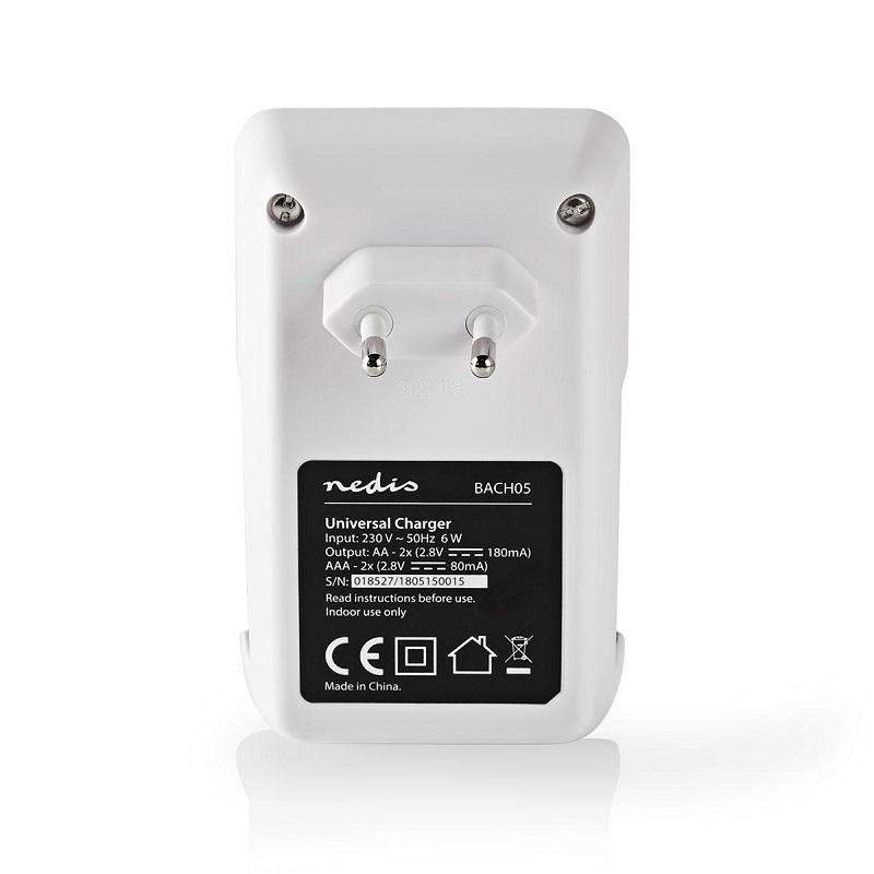 NEDIS Acculader voor NiMH accu voor AA en AAA batterijen
