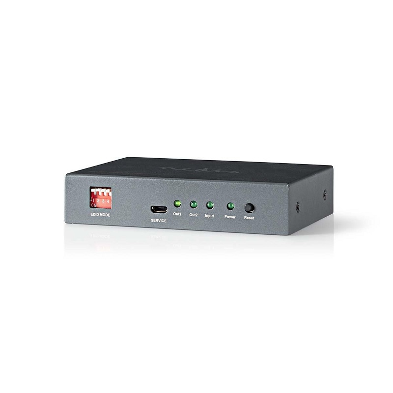 NEDIS HDMI-splitter 2-poorts 1x HDMI in + 2x HDMI uit