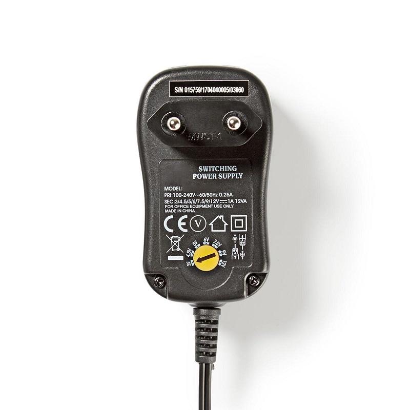 NEDIS Universele AC Voedingsadapter 1.0A, 3V - 12V DC