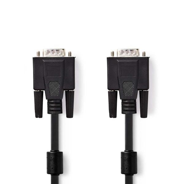 NEDIS VGA male P male kabel zwart