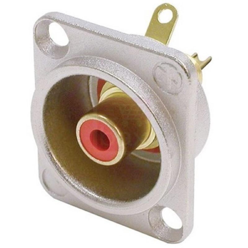 NEUTRIK  RCA/TULP chassisdeel ROOD