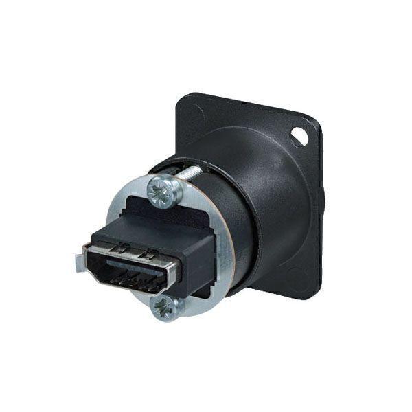 NEUTRIK NAHDMIWB HDMI Feed through adapter - zwart