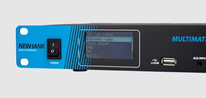 NEWHANK Multimate RS 19 inch DAB+, Internet-FM Mediaplayer