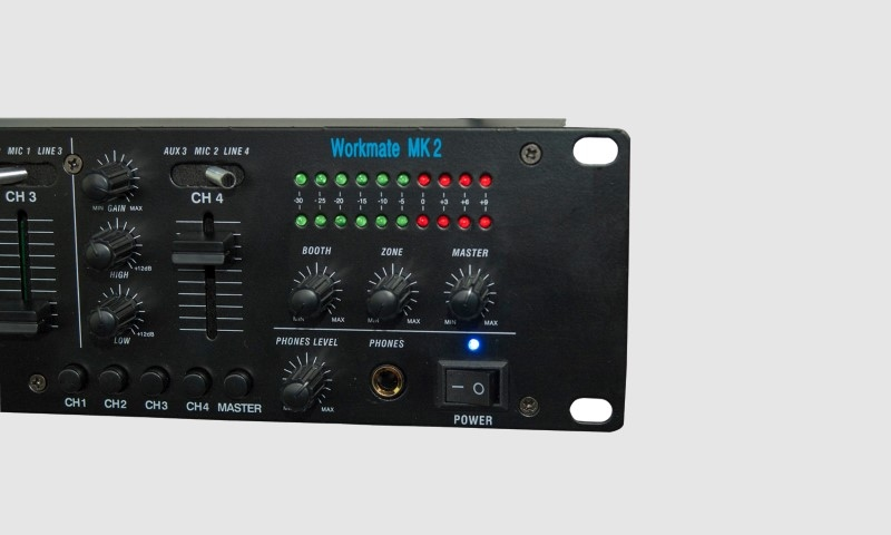 NEWHANK WORKMATE MKII mixer-voorversterker-mediaplayer