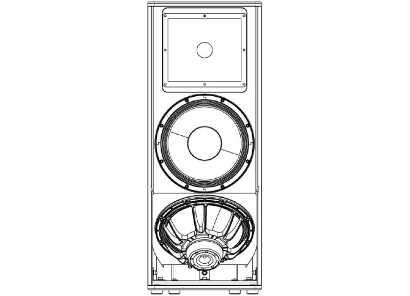 NEXT HFA212 dubbel 12 inch top 1650 Watt