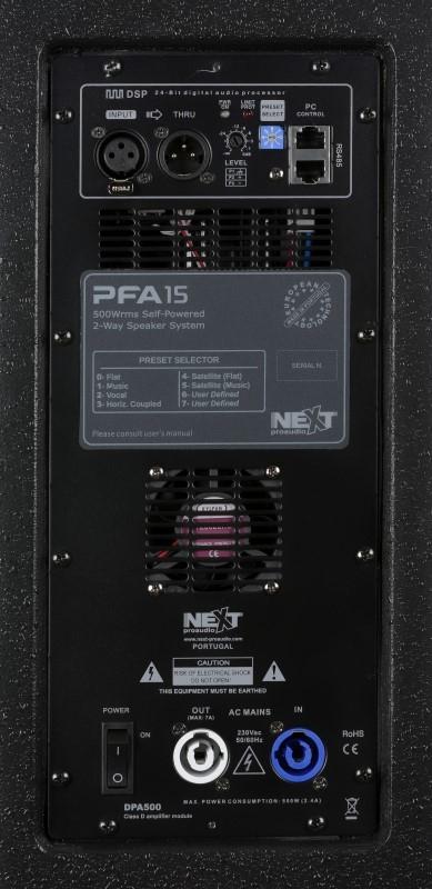 NEXT PFA15p 15 inch top 500 Watt