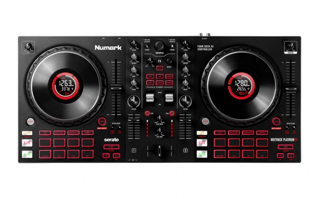 NUMARK Mix Track Platinum FX DJ Controller 4-deck
