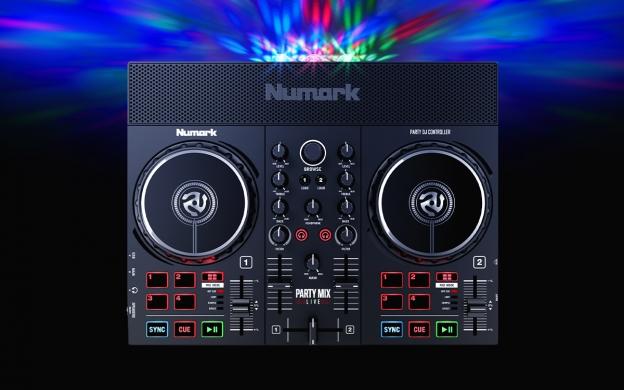 NUMARK Party Mix Live DJ Controller 2-kanaals met speakers