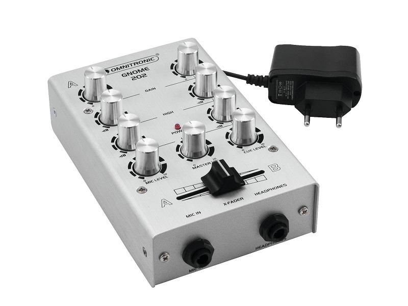 OMNITRONIC GNOME-202 DJ Mixer 2-kanaals