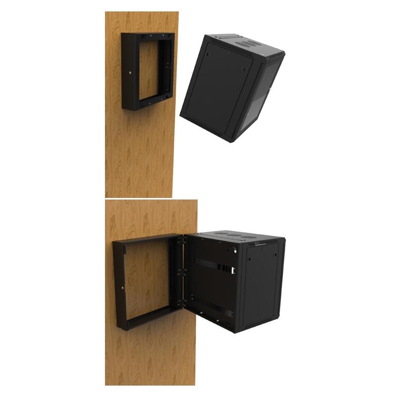 PENN ELCOM Wall Mount Rack Polycarbonaat deur en Muurframes